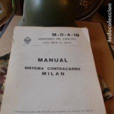 Militaria: MINISTERIO DEL EJERCITO MANUAL SISTEMA CONTRACARRO 331 PAG-. Lote 78433329
