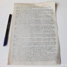 Militaria: TEXTO OFICIAL DEL DISCURSO PRONUNCIADO POR CARLOS DE BORBON EN MONTEJURRA EN 1958 - CARLISMO. Lote 78928261