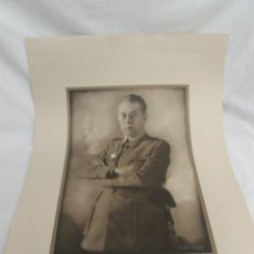 Militaria: ANTIGUA LAMINA GENERAL MOLA, FOTO ANGEL JALON, LITOGRAFIA LABORDE Y LABAYEN, TORTOSA. Lote 79509509