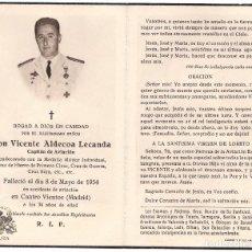 Militaria: RECORDATORIO ESCUADRILLA AZUL, MEDALLA INDIVIDUAL, CRUZ DE HIERRO PRIMERA CLASE - VICENTE ALDECOA. Lote 79658413