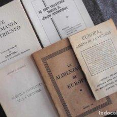 Militaria: LOTE DE PROPAGANDA MILITAR ALEMANA - SEGUNDA GUERRA MUNDIAL - ALEMANIA NAZI, HITLER, GOERING. Lote 79813721