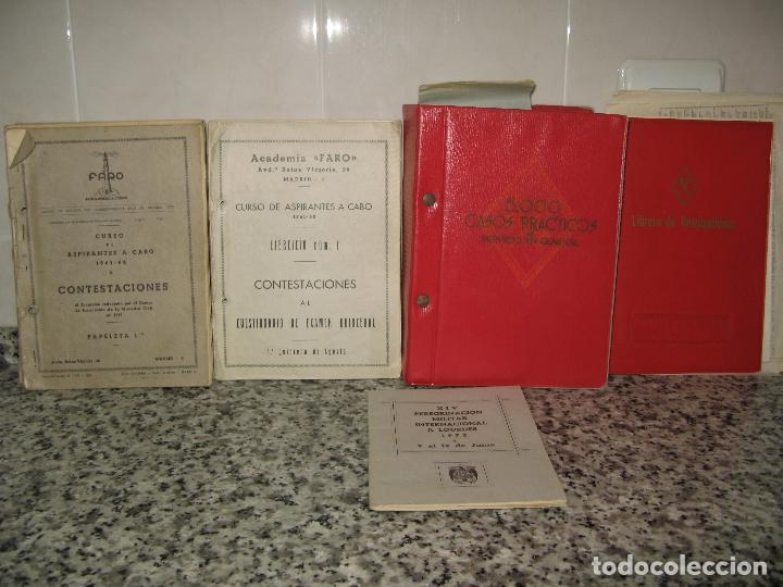 LOTE DE DOCUMENTOS Y PAPEL DE LA GUARDIA CIVIL.AÑOS '60 (Militar - Propaganda y Documentos)
