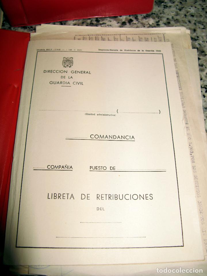 Militaria: Lote de Documentos y Papel de la Guardia Civil.Años 60 - Foto 3 - 80092977