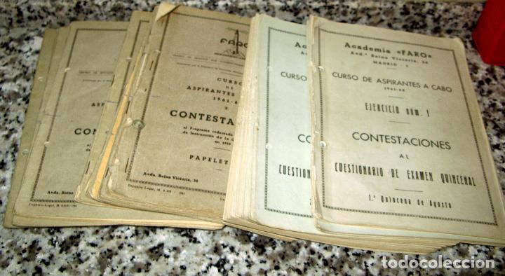 Militaria: Lote de Documentos y Papel de la Guardia Civil.Años 60 - Foto 9 - 80092977