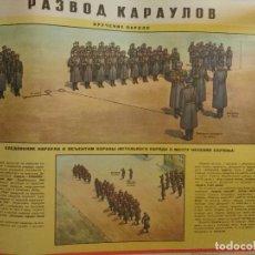 Militaria: CARTEL ORIGINAL IMPRESO EN LA ANTIGUA URSS, GUERRA FRIA AÑO 80, FORMACIONES. Lote 80309821