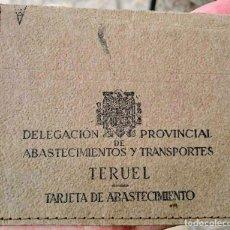 Militaria: TERUEL DELEGACIÓN PROVINCIAL DE ABASTECIMIENTOS Y TRANSPORTES. Lote 80391785