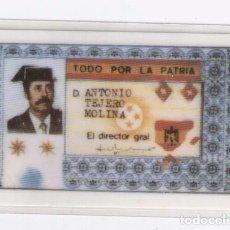 Militaria: ALEGORÍA D.N.I. ANTONIO TEJERO. PLASTIFICADO. Lote 80478021