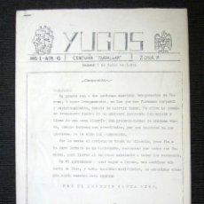 Militaria: REVISTA YUGOS. AÑO 1 Nº 10. CENTURIA TRAFALGAR. AÑO 1943. FALANGE, PROPAGANDA FASCISTA. RARO. . Lote 80714602