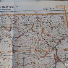 Militaria - Mapa alemán original de Starobelsk (Ucrania) de la Luftwaffe de 1943 - 80756094