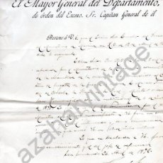 Militaria: SAN FERNANDO, CADIZ,1892, COMUNICACION CONCESION PLACA ORDEN DE SAN HERMENEGILDO A MARINO. Lote 81542492