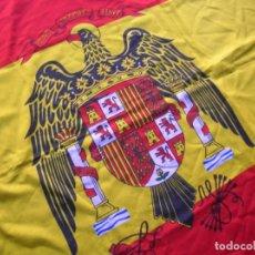 Militaria: BANDERA DE ESPAÑA DE CUARTEL O BUQUE DE GUERRA. AGUILA DE SAN JUAN. MODELO 1977. ORIGINAL Y ESCASA.. Lote 81867124