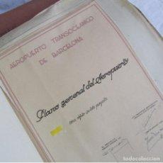 Militaria: PROYECTO DE EXPROPIACIÓN PARA LAS OBRAS DE 1951 EN EL AEROPUERTO TRANSOCEÁNICO DE BARCELONA, PRAT. Lote 82032404