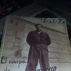 Militaria: REVISTA FOTOS ESPECIAL JOSE ANTONIO 1939 22 DE ABRIL 1939 REF. EST 6. Lote 82492720