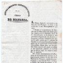 Militaria: JUNTA DE ARMAMENTO Y DEFENSA DE BARCELONA. ORDEN DE CONTRIBUCIÓN MUNICIPAL PARA EL EJÉRCITO. 1843. Lote 82584988
