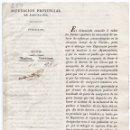 Militaria: DIPUTACIÓN DE BARCELONA. CIRCULAR PARA RECLUTAMIENTO DE HOMBRES. SAN JUAN DE OLÓ. 1823. Lote 82590180