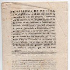 Militaria: JUNTA CORREGIMENTAL DE CATALUÑA. CREACIÓN DE EJÉRCITO DE RESERVA. GUERRA INDEPENDENCIA. 1811. Lote 82603804