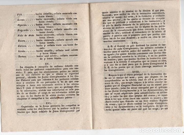 Militaria: JUNTA CORREGIMENTAL DE CATALUÑA. CREACIÓN DE EJÉRCITO DE RESERVA. GUERRA INDEPENDENCIA. 1811 - Foto 4 - 82603804