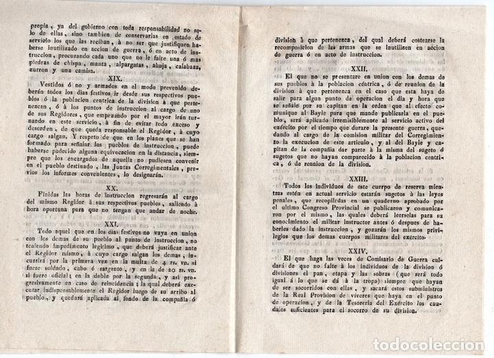 Militaria: JUNTA CORREGIMENTAL DE CATALUÑA. CREACIÓN DE EJÉRCITO DE RESERVA. GUERRA INDEPENDENCIA. 1811 - Foto 5 - 82603804