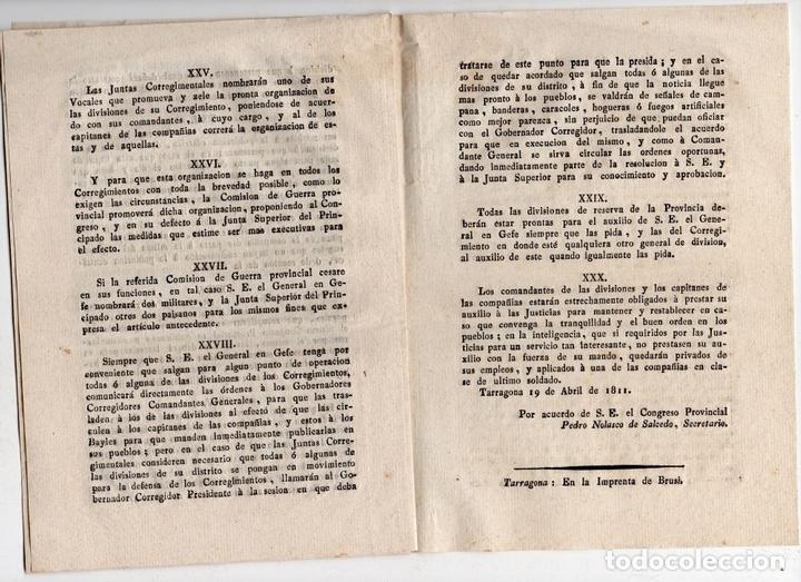 Militaria: JUNTA CORREGIMENTAL DE CATALUÑA. CREACIÓN DE EJÉRCITO DE RESERVA. GUERRA INDEPENDENCIA. 1811 - Foto 6 - 82603804