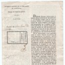 Militaria: CIRCULAR DEL GOBIERNO DE BARCELONA A SAN JUAN DE OLÓ PARA REEMPLAZO EXTRAORDINARIO. 1823. Lote 82616432