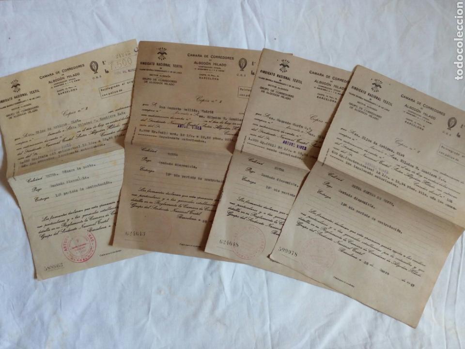 LOTE DOCUMENTOS FALANGE Y SINDICATO VERTICAL. AÑOS 40. POST GUERRA CIVIL. FRANCO. CNS. FRANQUISTA. F (Militar - Propaganda y Documentos)