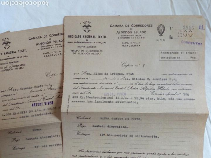 Militaria: Lote documentos falange y sindicato vertical. Años 40. Post guerra civil. Franco. Cns. Franquista. F - Foto 2 - 82623694