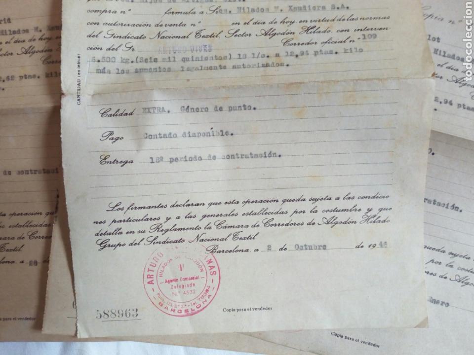 Militaria: Lote documentos falange y sindicato vertical. Años 40. Post guerra civil. Franco. Cns. Franquista. F - Foto 3 - 82623694