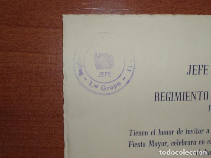 Militaria: ENTRADA-INVITACIÓN JEFE Y OFICIALES REGIMIENTO ARTILLERIA Nº11. FIESTA MAYOR PARQUE DE BALIRA. 1946 - Foto 2 - 82833516