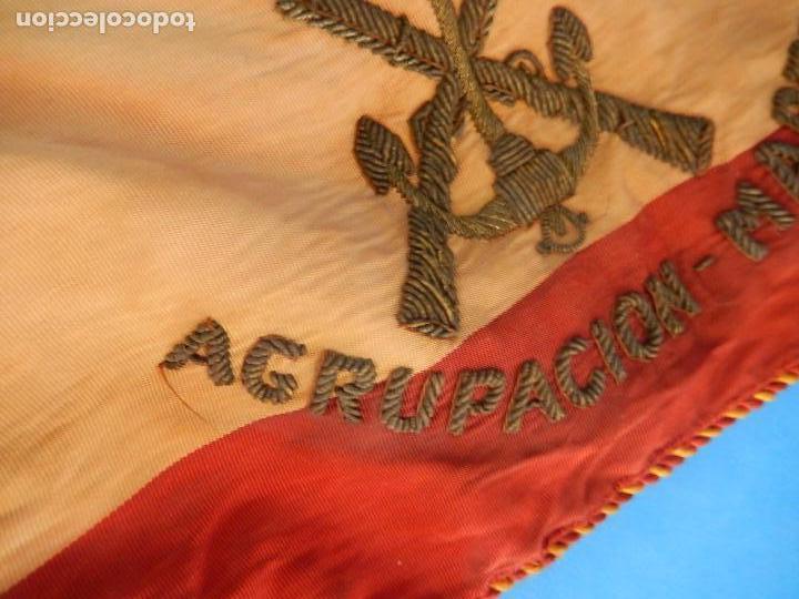 Militaria: Marina de Guerra. Bandera sobremesa. Infantería de Marina. Agrupación Madrid. De los años 1968-1975. - Foto 3 - 83646360