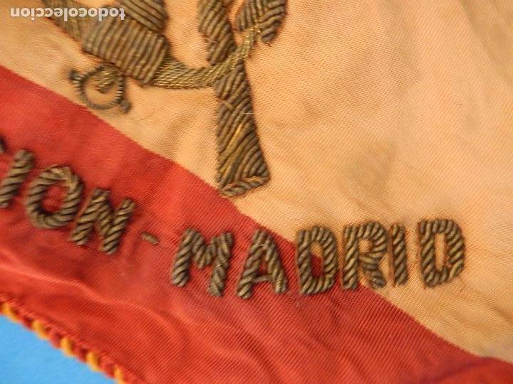 Militaria: Marina de Guerra. Bandera sobremesa. Infantería de Marina. Agrupación Madrid. De los años 1968-1975. - Foto 4 - 83646360