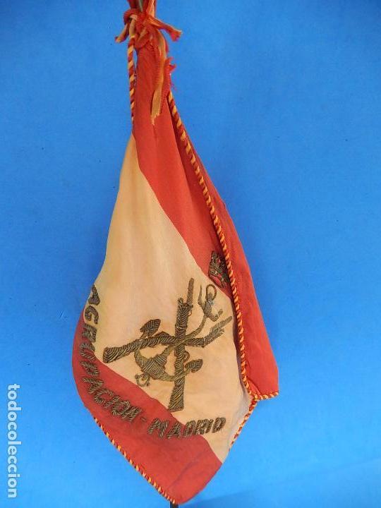 Militaria: Marina de Guerra. Bandera sobremesa. Infantería de Marina. Agrupación Madrid. De los años 1968-1975. - Foto 6 - 83646360