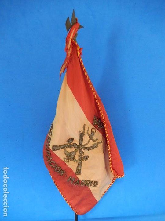 Militaria: Marina de Guerra. Bandera sobremesa. Infantería de Marina. Agrupación Madrid. De los años 1968-1975. - Foto 8 - 83646360