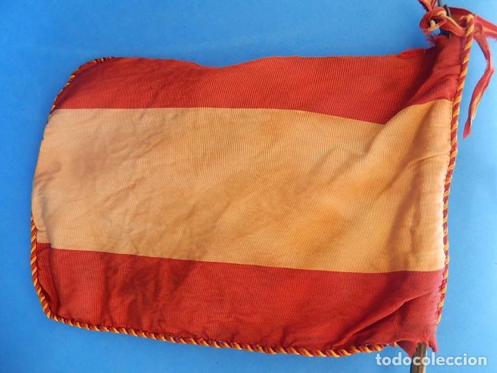 Militaria: Marina de Guerra. Bandera sobremesa. Infantería de Marina. Agrupación Madrid. De los años 1968-1975. - Foto 9 - 83646360