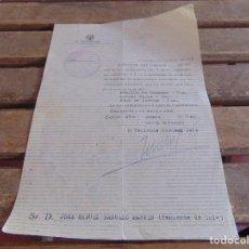 Militaria: DOCUMENTO 71 DIVISION CONCESION MEDALLAS GUERRA CIVIL CAMPAÑA CRUCES ROJAS CRUZ GUERRA AÑO 1940. Lote 84714660