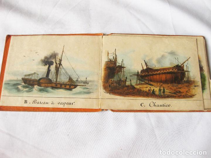 Militaria: ANTIGUO ALFABETO CON ESCENAS NAVALES DE BARCOS. ALPHABET DU PETIT MARIN. 1838 - Foto 3 - 84944276