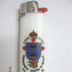 Militaria: MECHERO COMANDANCIA GENERAL DE MELILLA DIA DE LAS FAS 89. Lote 85342852