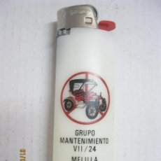 Militaria: MECHERO GRUPO DE MANTENIMIENTO VII/24 MELILLA . Lote 85343068