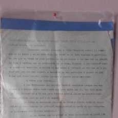 Militaria: 1939 CARTA DICTADA LECHO DE MUERTE JOVEN REQUETÉ MARTÍN PEYRA OLIVA GUERRA CIVIL CONSULTAR. Lote 85797052