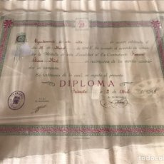 Militaria: DIPLOMA MILITAR GUERRA CIVIL. Lote 85887232