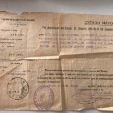 Militaria: CUERPO DE EJERCITO DE ARAGON 53 DIVISION. Lote 85889046
