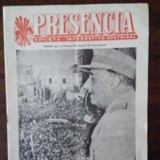 Militaria: PRESENCIA. FRANCO EN BADAJOZ (1956). REVISTA INFORMATIVO DOCTRINAL. 1961. FALANGE BADAJOZ.. Lote 86165852