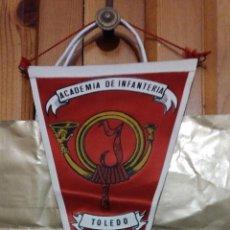 Militaria: BANDERÍN ACADEMIA DE INFANTERÍA DE TOLEDO, ÉPOCA FRANCO, ÁGUILA SAN JUAN, EL ALCÁZAR. Lote 86231864