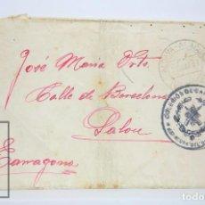 Militaria: MARCAS POSTALES DE GUERRA CIVIL, 1937 - ALDAIA ALAQUÀS - COLEGIOS CARABINEROS - CIRCULADA SIN SELLO. Lote 86343948