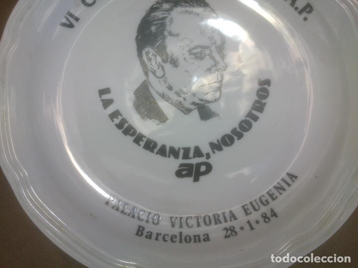Militaria: Plato de ceramica del VI Congreso de la Alianza Popular BARCELONA - Foto 2 - 86518128