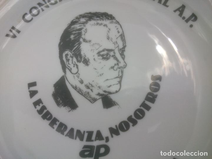 Militaria: Plato de ceramica del VI Congreso de la Alianza Popular BARCELONA - Foto 3 - 86518128