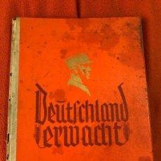 Militaria: ALBUM DE CROMOS DEUTSCHLAND ERWACHT 1933 ¡SIN ESTRENAR!, FUHRER ADOLF HITLER, TERCER REICH,NAZI. Lote 86578244