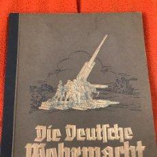 Militaria: ALBUM DE CROMOS DIE DEUTSCHE WEHRMACHT, TERCER REICH, ADOLF HITLER, NSDAP FUHRER,NAZI. Lote 86579316