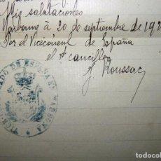 Militaria: ANTIGUA CARTA Y SOBRE VICECONSULADO DE ESPAÑA EN NARBONE (AUDE). FRANCIA, 1928. SERVICIO M. Lote 86822536