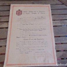 Militaria: DOCUMENTO ENTREGA ORDEN MILITAR SALVADOR Y SANTA BRIGIDA DE SUECIA GRAN CRUZ DE JUSTICIA 1962 . Lote 86975580