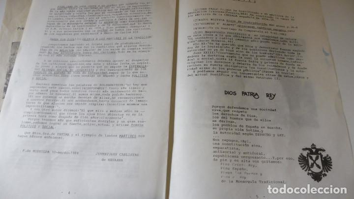 CARLISMO PROPAGANDA MECANOGRAFIADA MARTIRES DE LA TRADICION - FIESTA DE LOS MARTIRES EN MONCADA (Militar - Propaganda y Documentos)